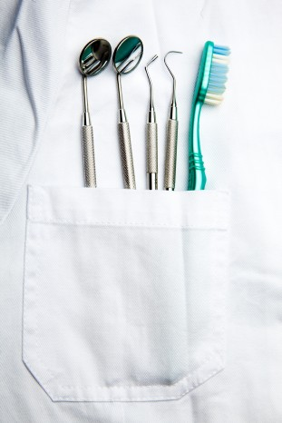 Dentist Pocket With Care Instruments