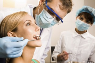Dental Exam on Female Patient
