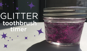DIY: Glittery Toothbrush Timer for Kiddos